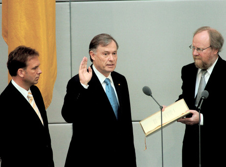Horst Köhler mit Wolfgang Thierse