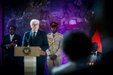 Bundespräsident Frank-Walter Steinmeier hält eine Rede beim Staatsbankett gegeben vom Präsidenten der Republik Ghana im Accra International Conference Center anlässlich seines Staatsbesuchs in der Republik Ghana