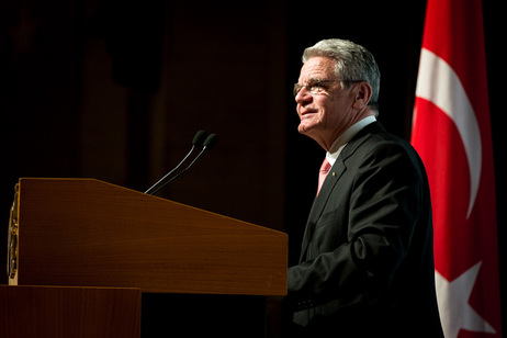 Bundespräsident Joachim Gauck hält an der Middle East Technical University (METU) eine Rede