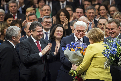 Congratulations to the Federal President-elect Frank-Walter Steinmeier at the 16th Federal Convention following his election as Federal President