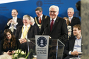 Federal President Frank-Walter Steinmeier at the ceremony awarding the International Charlemagne Prize of Aachen to Timothy Garton Ash