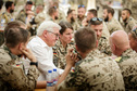 Federal President Frank-Walter Steinmeier talking to soldiers at a community centre of Camp Marmal in Mazar-i-Sharif on the ocassion of his visit to Afghanistan