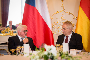 Federal President Frank-Walter Steinmeier holds a speech at the lunch hosted by the President, Miloš Zeman, at the official residence 'Prague Castle' on the occasion of his visit to the Czech Republic