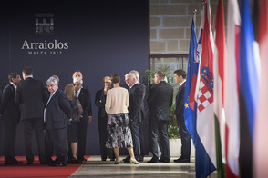 Federal President Frank-Walter Steinmeier at this year's Arraiolos Group meeting of non executive EU Presidents in Malta