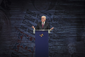 Federal President Frank-Walter Steinmeier holds a speech at the ceremony marking the Day of German Unity in Mainz