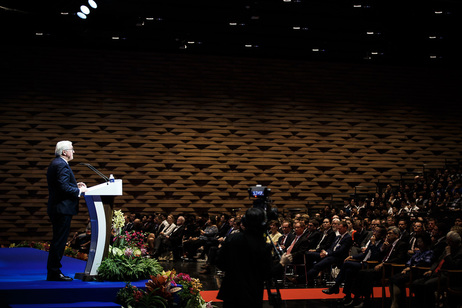 Federal President Frank-Walter Steinmeier holds a speech at the Singapore Management University on the occasion of his state visit to the Republic of Singapore