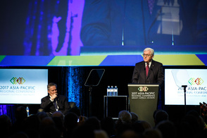 Federal President Frank-Walter Steinmeier holds a speech at the opening of the Asia-Pacific Regional Conference in Perth on the occasion of his state visit to Australia