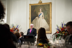 Federal President Frank-Walter Steinmeier holds a speech at the state banquet hosted by the Governor-General Dame Patsy Reddy and Sir David Gascoigne at the Government House in Wellington on the occasion of his state visit to New Zealand