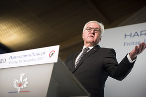 Federal President Frank-Walter Steinmeier holds a speech at the opening of the museum at Hartmannswillerkopf on the occasion of his trip to France