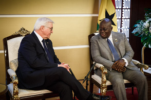 Federal President Frank-Walter Steinmeier in talks with President Nana Addo Dankwa Akufo Addo on the occasion of his state visit to the Republic of Ghana