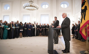 Federal President Frank-Walter Steinmeier holds a speech at the new year reception for the Diplomatic Corps in the Great Hall of Schloss Bellevue