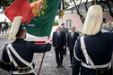 Federal President Frank-Walter Steinmeier is welcomed with military honors by President Marcelo Rebelo de Sousa in his residence Palácio Nacional de Belém in Lisbon on the occasion of his official visit to Portugal