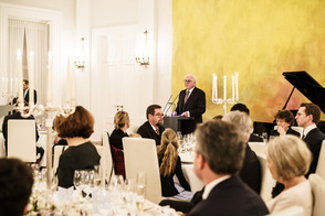 Federal President Frank-Walter Steinmeier holds a speech at the dinner in honour of Horst Köhler at Schloss Bellevue