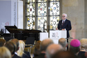 Federal President Frank-Walter Steinmeier holds a speech at the awarding of the Peace of Westphalia Prize to the Baltic states in the town hall of Münster