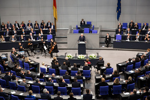 Federal President Frank-Walter Steinmeier held a speech at the ceremony in the German Bundestag in Berlin on 9 November 2018 to commemorate the centenary of the proclamation of the Republic