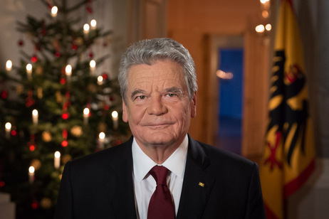 Federal President Joachim Gauck during his christmas message 2014