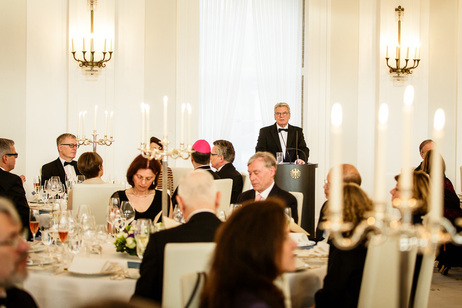 Federal President Joachim Gauck during his speech at the state banquet on the occasion of the visit by the President of Israel