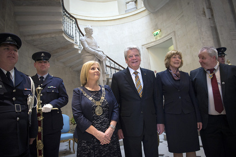 Federal President Joachim Gauck at the luncheon in Ireland's Oireachtas at the invitation of the President of the Houses of the Oireachtas in Dublin