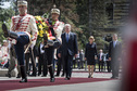 Federal President Joachim Gauck and Daniela Schadt are welcomed with military honours by the President of the Republic of Bulgaria, Rosen Plevneliev, on Alexander Nevski Square in Sofia on the occasion of the visit to the Republic of Bulgaria