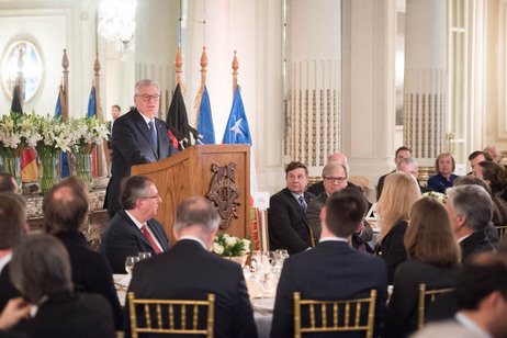 Federal President Joachim Gauck at the gala luncheon marking the centenary of the German-Chilean Chamber of Industry and Commerce