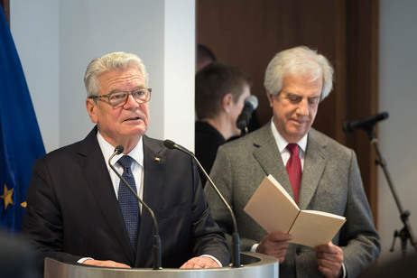 Federal President Joachim Gauck hold a Speech at a luncheon hosted by President Tabaré Vázquez on the occasion of the state visit to the Eastern Republic of Uruguay