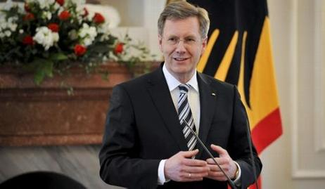 Bundespräsident Christian Wulff in Schloss Bellevue