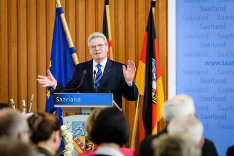 Bundespräsident Joachim Gauck bei seiner Ansprache